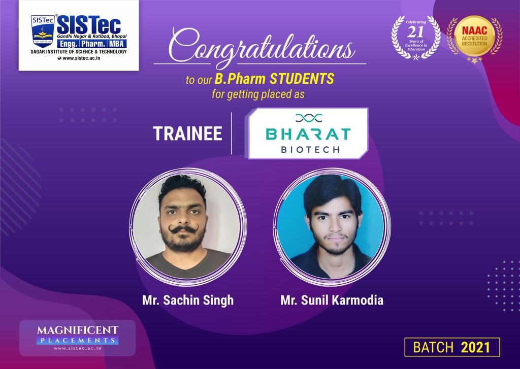 GPAT Qualified Students of SIPTec, the best pharmacy college in bhopal